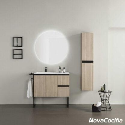 Conjunto completo de baño structure en tono beige