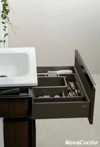 Detalle del mueble con cajón abierto