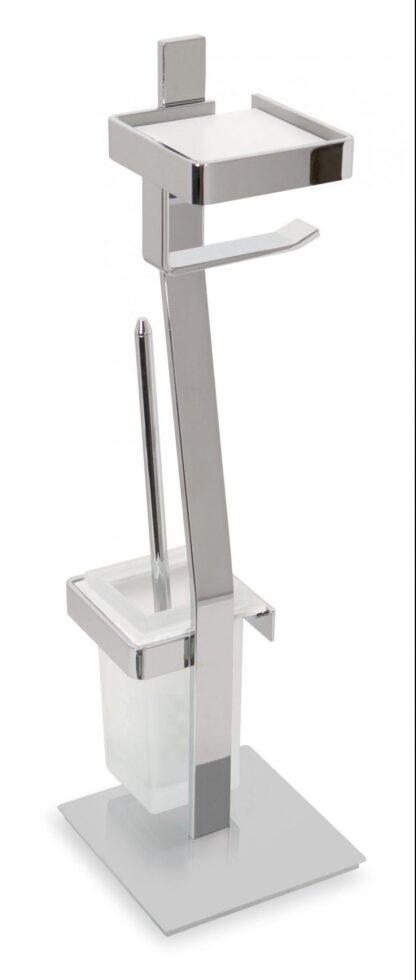Escobillero portarrollos de pie diseño Turín