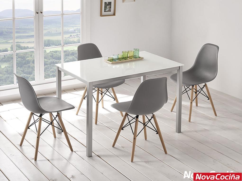 Mesa de cristal para cocina modelo Ágata | ANova Cociña