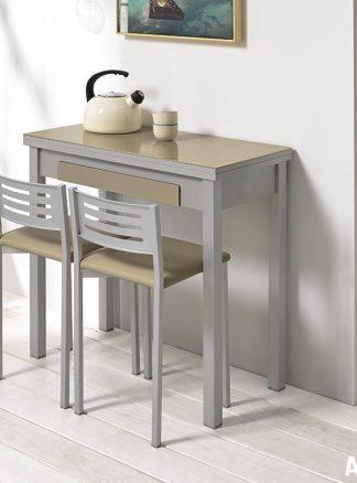 Mesas libro para cocina. Cristal, laminados... | ANova Cociña