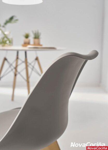 Silla con respaldo gris ara-elba (2) de estilo Nórdico