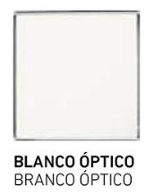 muestra de cristal blanco-optico