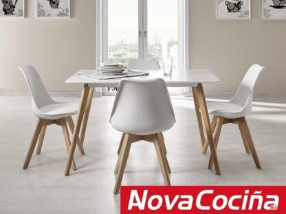mesa estilo nórdico balnca modelo capri