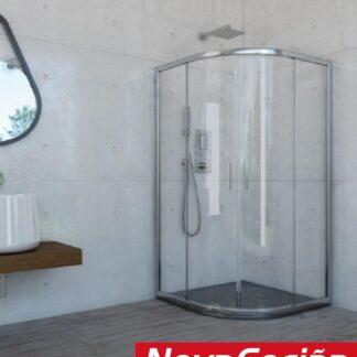 Mampara de ducha semicircular modelo Cauca