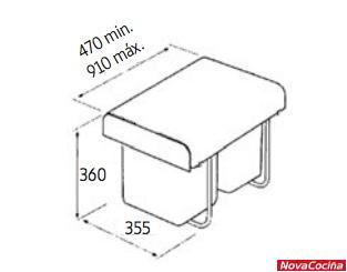 Cubo ecológico Ekko
