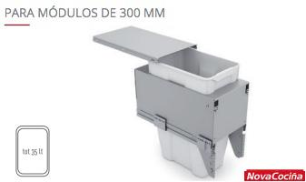 Cubo mueble bajo gran capacidad QUADRIFOGLIO