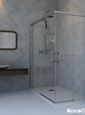 Mampara de ducha rectangular modelo Iguazú