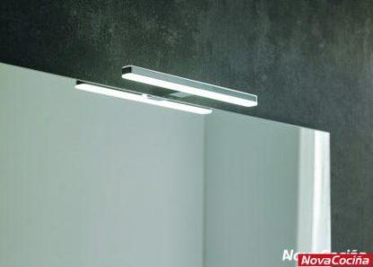 Aplique led para baño en negro y plata