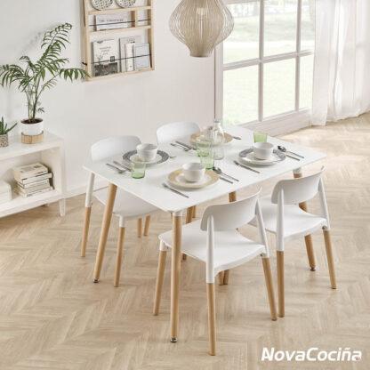 Mesa estilo nórdico PISA
