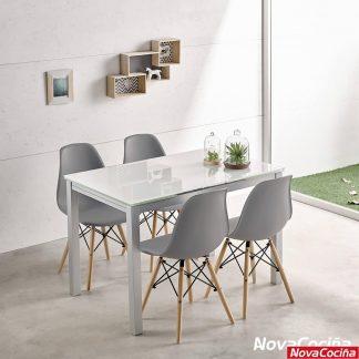 mesa extensible de cristal karina