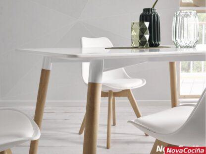 mesa estilo nórdico blanca modelo Pisa