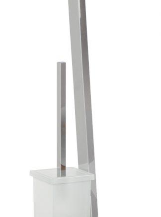 Escobillero portarrollo rectangular para baño