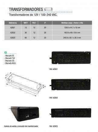 Transformador 12V / 100-240 VAC