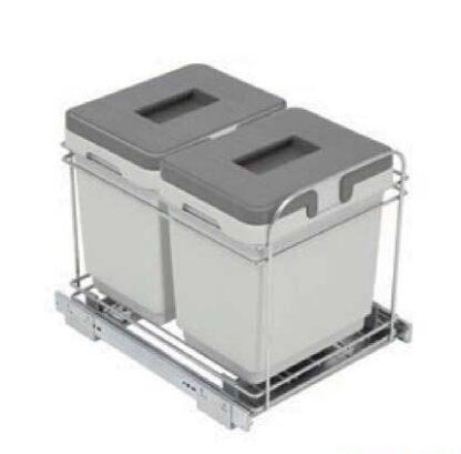 Cubo rectangular con guías