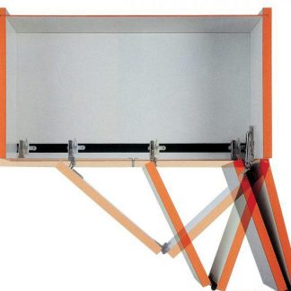 Sistema de herrajes para puerta libro plegable M25