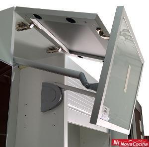 Sistema de alzamiento de dos puertas free fold M6