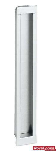 Tirador embutido rectangular para mueble MN4646