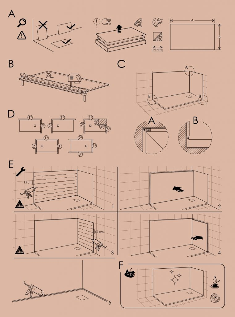 Manual de instalación de Paneles de baño Doccia
