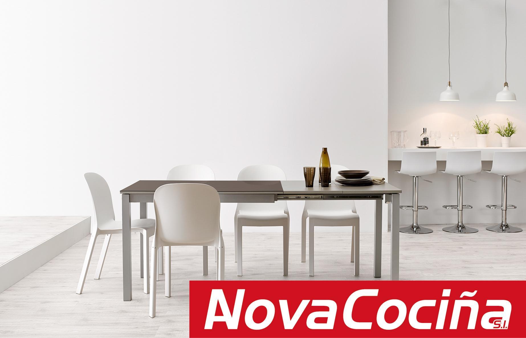 Mesa extensible modelo Zulema cristal - Velasco - | ANova Cociña