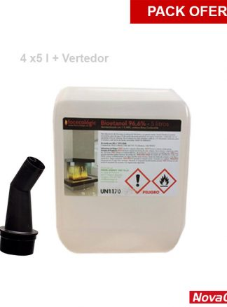 Pack bioetanol + vertedor