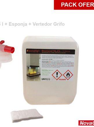 Pack bioetanol + esponja + vertedor grifo
