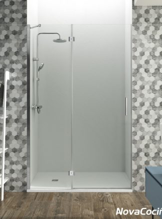 Mampara frontal 1 fijo + 1 puerta Glass GME