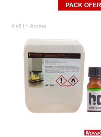Pack bioetanol y aroma