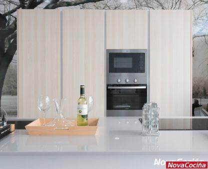 Cocina tipo isla con muebles y electrodomésticos