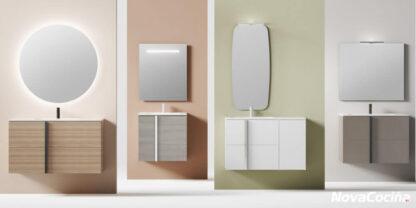 muebles de baño de diferentes tamaño y colores