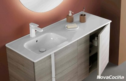 Mueble de baño ONIX+ grifo blanco mueble beige