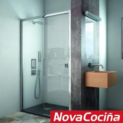 Mampara de ducha frontal 1 coredera 1 fija MÉXICO