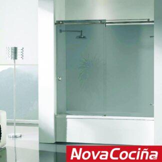 Mampara de bañera frontal 1 corredera + 1 fija Riga