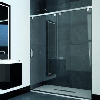 Mampara de ducha frontal-angular de corredera SUVA