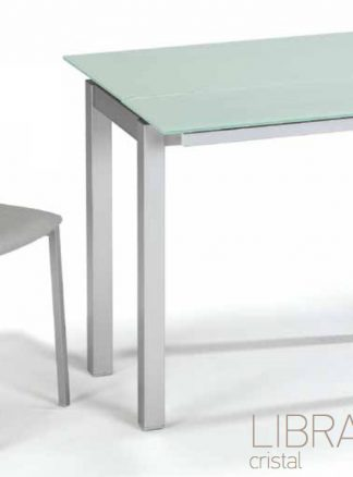 Mesa extensible de cristal LIBRA Bailén