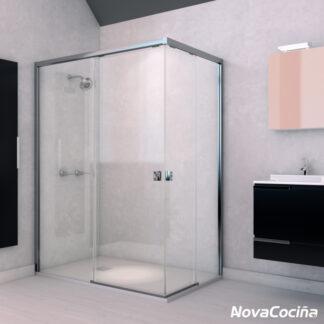 Mampara de ducha angular de corredera AUSTIN