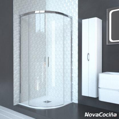 Mampara de ducha semicircular de corredera LILLE