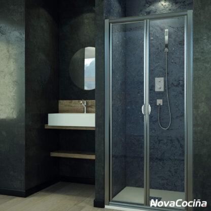 Mampara de ducha frontal-angular abatible LISBOA