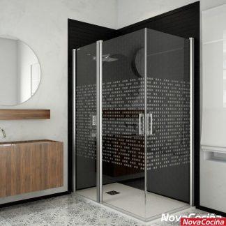 Mampara de ducha angular abatible MANILA