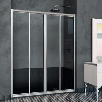 Mampara de ducha frontal-angular MILÁN