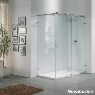 Mampara de ducha angular de corredera MONTREAL