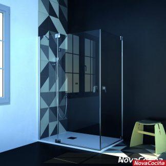 Mampara de ducha angular abatible SHANGHAI