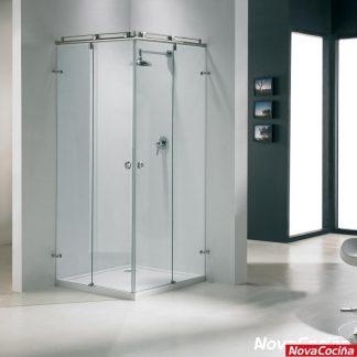 Mampara de ducha angular de corredera TORONTO