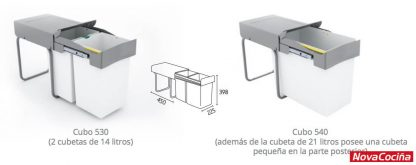 Cubo ecológico 530-540