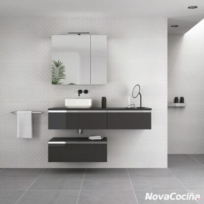 Baño modular de color negro