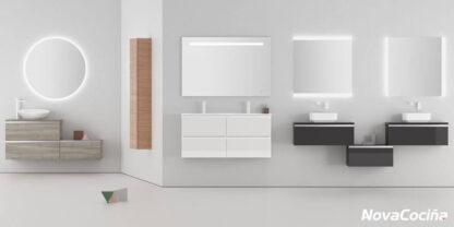 selección de varios lavabos suspendidos en diferentes tonos