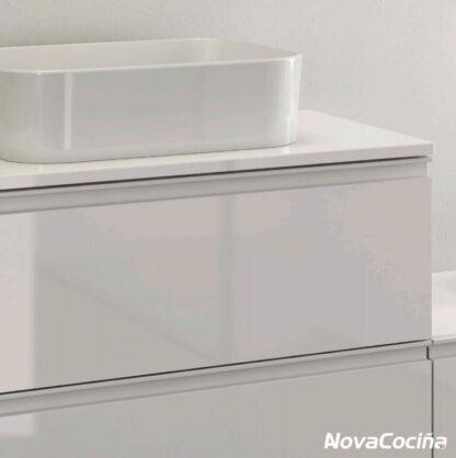 lavabo sobreencimera color blanco lacado