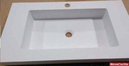 lavabo cuadrado de carga mineral